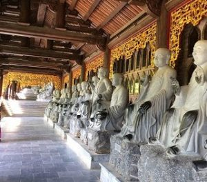 Arhat Statues in Bai Dinh Pagoda Complex
