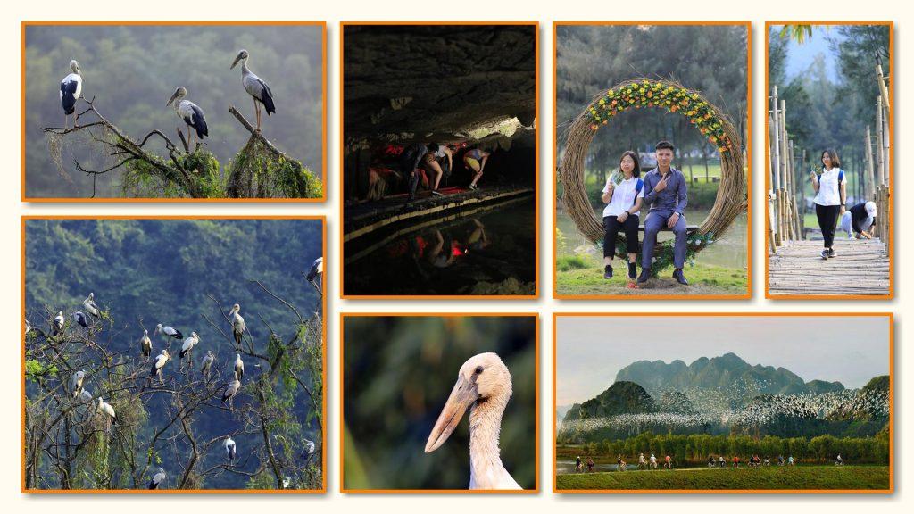 Thung Nham Ninh Bình có rất nhiều điểm check-in, chụp hình