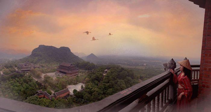 Toàn cảnh chùa Bái Đính nhìn từ bảo tháp