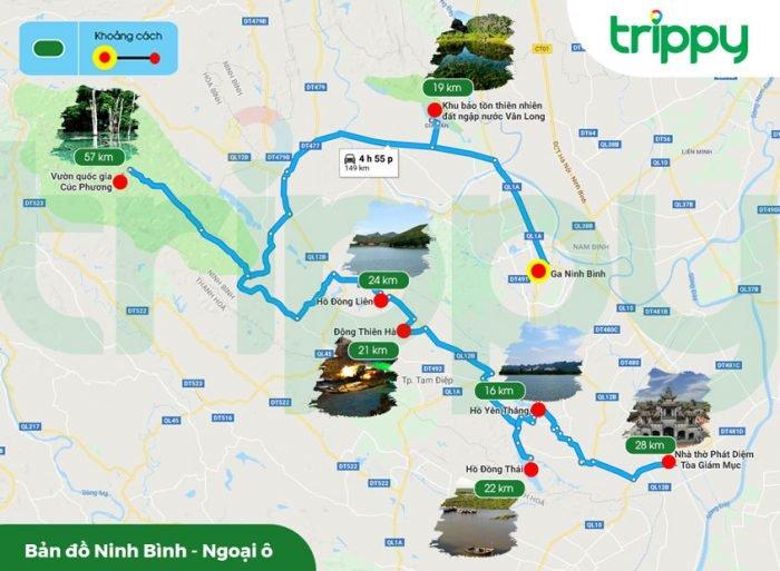 Bản đồ du lịch Ninh Bình