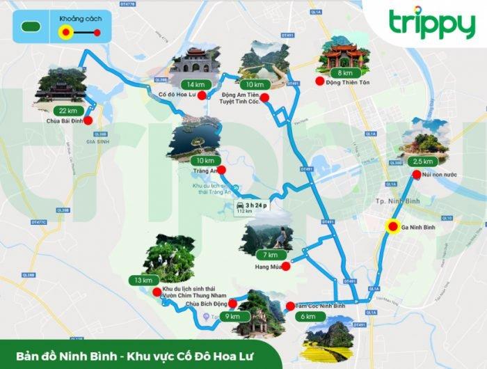 Bản đồ du lịch Tràng An Ninh Bình
