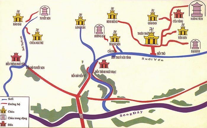 Bản đồ chùa Hương
