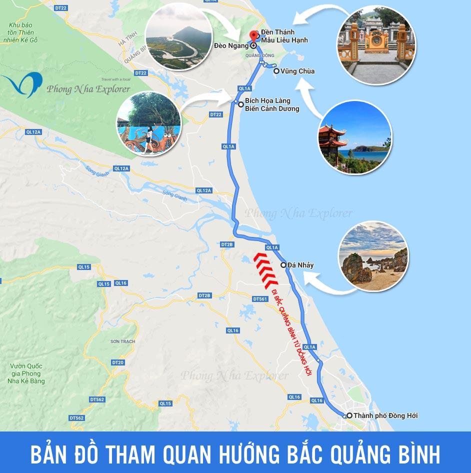 Bản đồ Quảng Bình - Bản đồ du lịch Quảng Bình (PhongNhaExplorer)