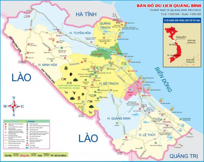 Bản đồ Quảng Bình - Bản đồ du lịch Quảng Bình