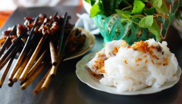 Bánh cuốn chả nướng Phủ lLys - Đặc sản Hà Nam
