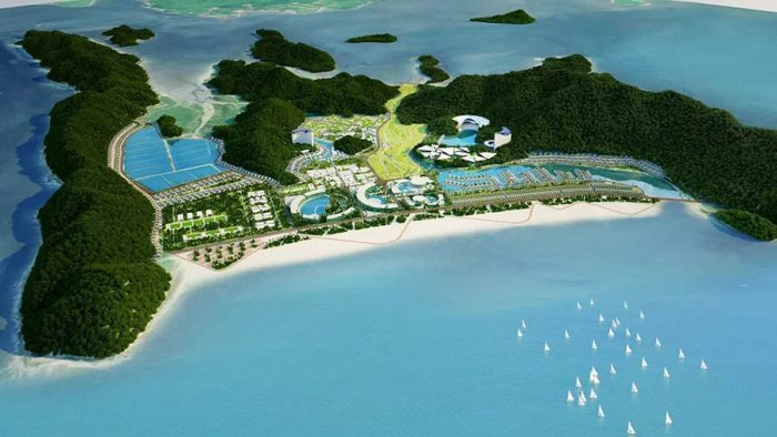 Quy hoạch dự kiến của khu nghỉ dưỡng FLC Vân Đồn