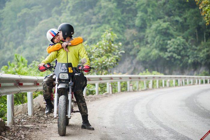 Phượt Tam Đảo bằng xe máy là thú vui  của nhiều bạn trẻ
