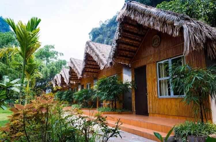 Phòng nghỉ được thiết kế theo phong cách thổ dân