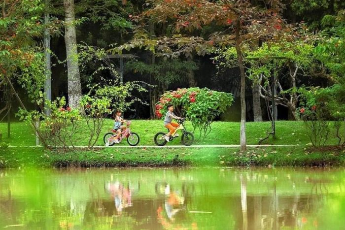 Ecopark Hưng Yên được mệnh danh là lá phổi xanh của thành phố.