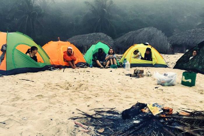 Cắm trại trên đảo Cù Lao Chàm