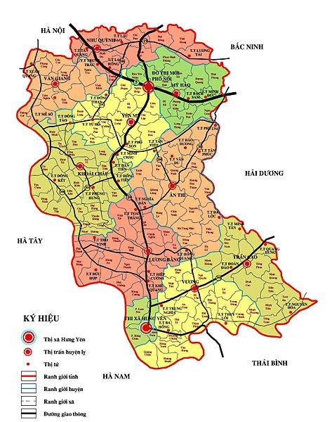 Vị trí địa lý Hưng Yên