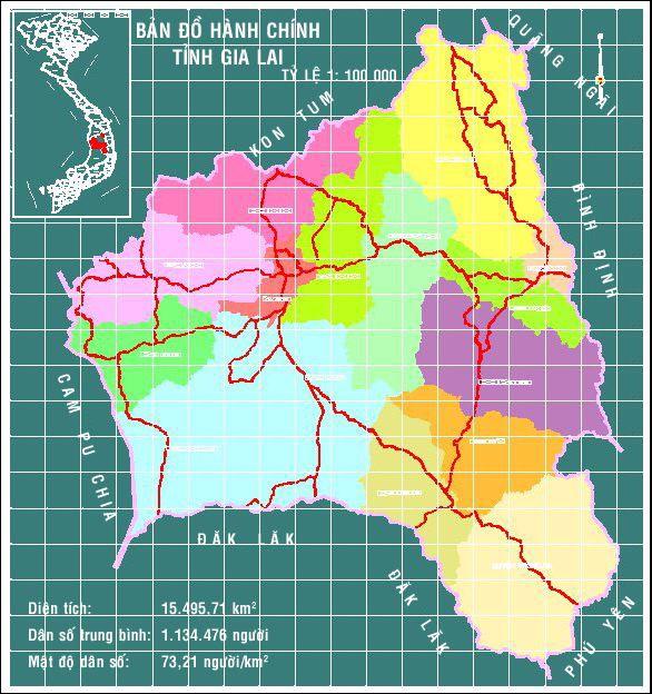 bản đồ Gia Lai