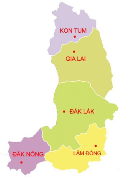 Bản đồ Đắk Lắk Du lịch Đắk Lắk