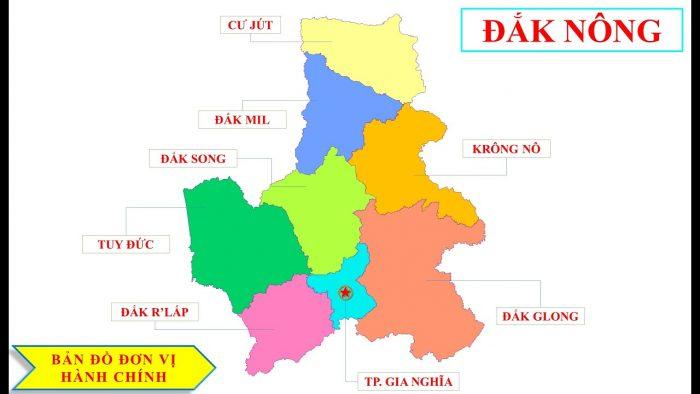 Bản đồ Đắk Nông
