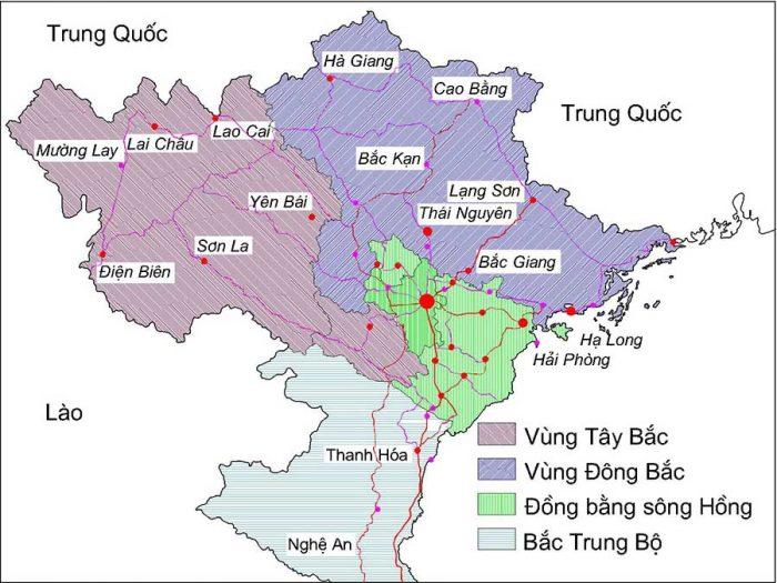 Bản đồ vị trí Điện Biên