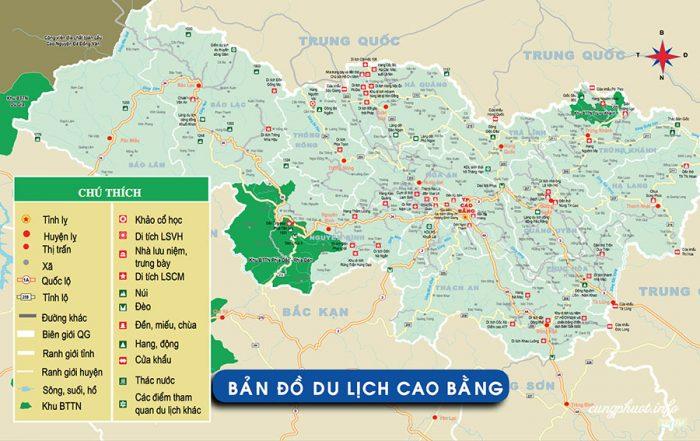 Bản đồ du lịch Cao Bằng
