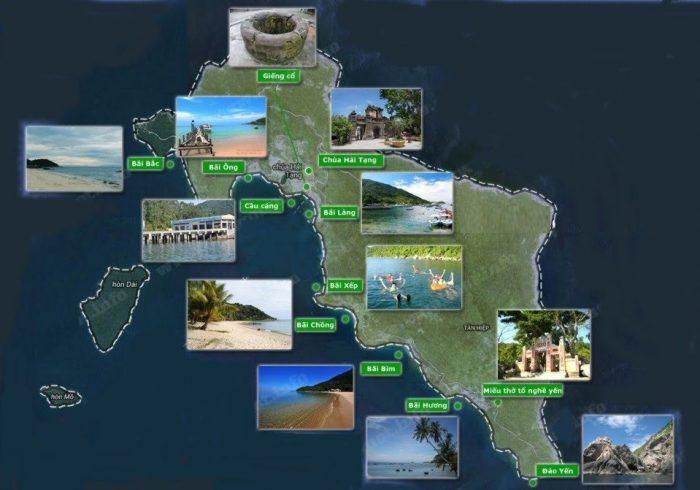 Bản đồ du lịch Cù Lao Chàm
