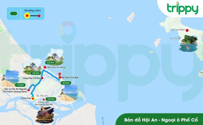 Bản đồ du lịch Quảng Nam - Hội An