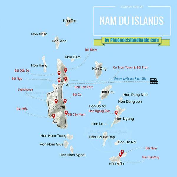 Bản đồ du lịch Nam Du