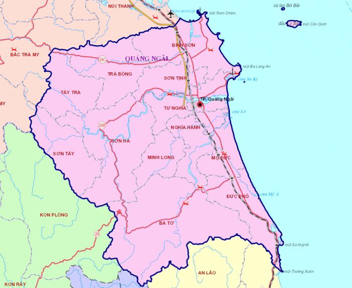 Bản đồ Quảng Ngãi