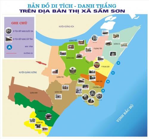 Bản đồ du lịch Sầm Sơn