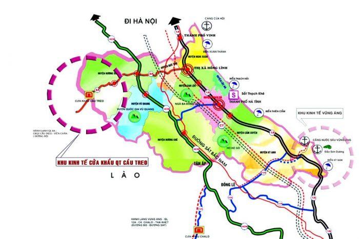Bản đồ du lịch Hà Tĩnh
