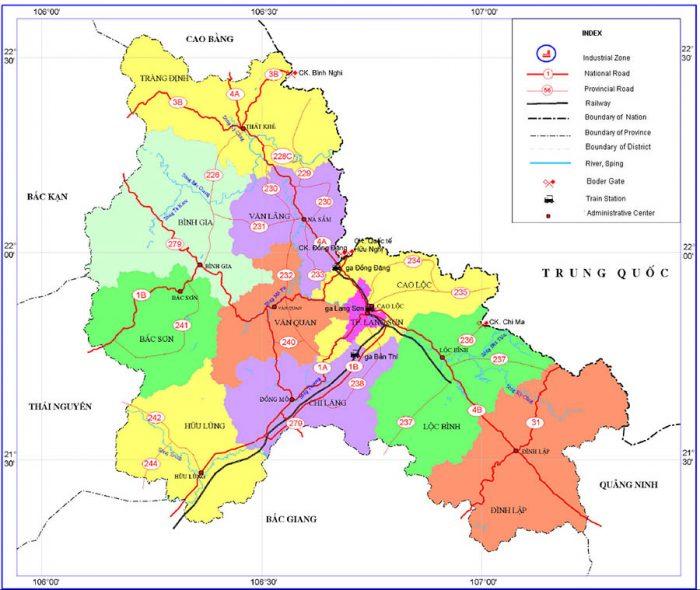 Bản đồ Lạng Sơn