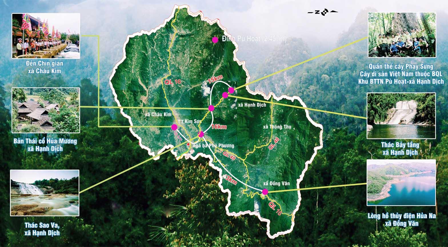 Bản đồ Nghệ An - bản đồ du lịch Nghệ An