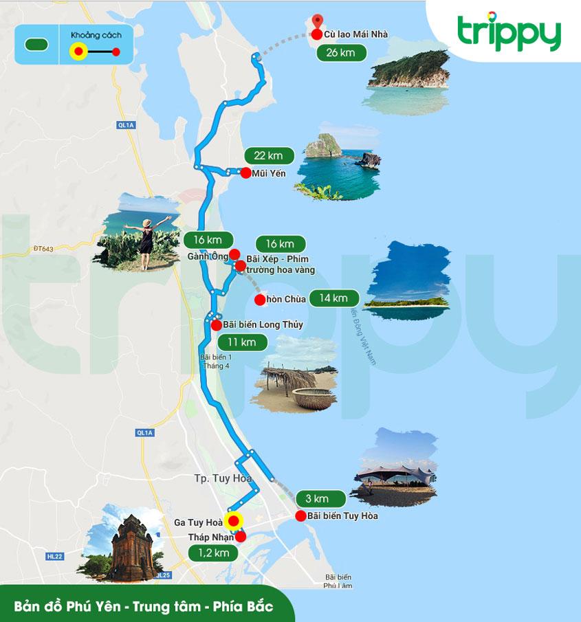 Bản đồ du lịch Phú Yên