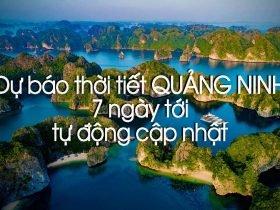 Dự báo thời tiết Quảng Ninh hôm nay