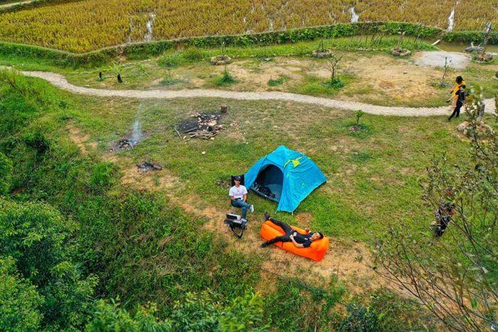 Cắm trại qua đếm tại vùng núi cao Yên Bái là trải nghiệm thủ vị