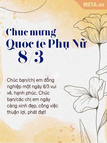 Thiệp chúc mừng 8/3 - Ảnh đẹp 8/3