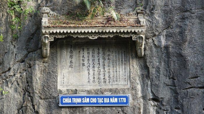 Tạc bia đá chúa Trịnh Sâm