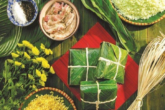 Bánh chưng bờ đậu đặc sản Thái Nguyên