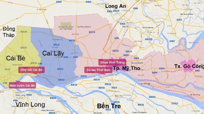 Bản đồ du lịch Tiền Giang