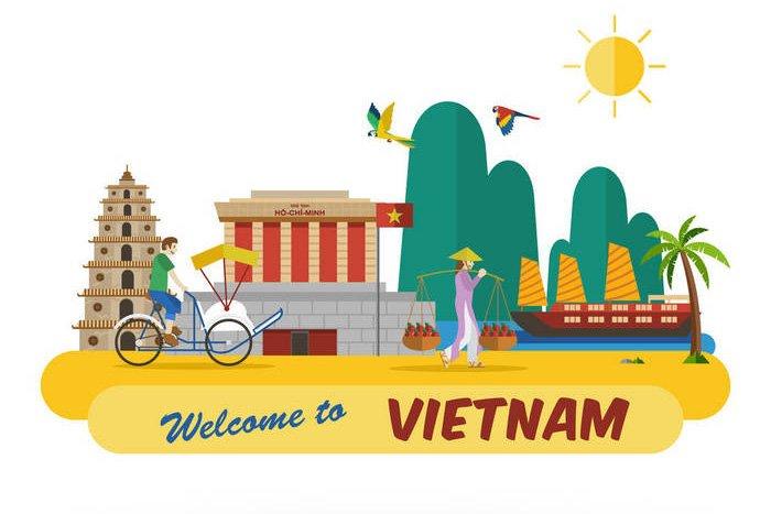Bản đồ du lịch welcome to Viet Nam