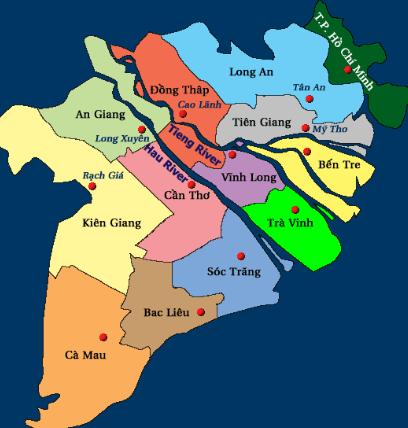 Bản đồ vị trí Long An