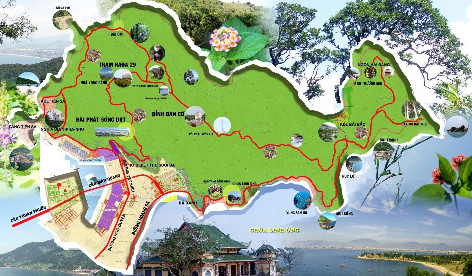 Bản đồ du lịch bán đảo Sơn Trà