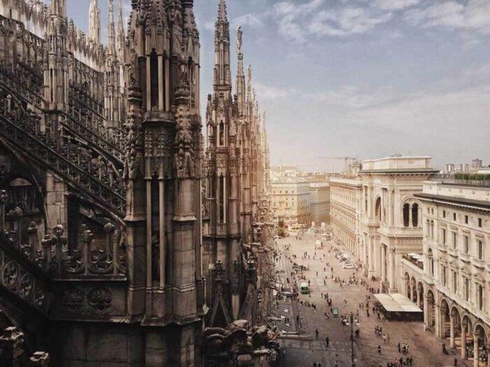 """Tác phẩm """"Duomo di Milano"""" đã giúp nhiếp ảnh gia Haiyin Lin giành chiến thắng tại hạng mục Kiến trúc. Bức ảnh chụp Nhà thờ chính của Tổng giáo phận Milano ở thành phố Milano, Lombardia, miền Bắc Italy."""