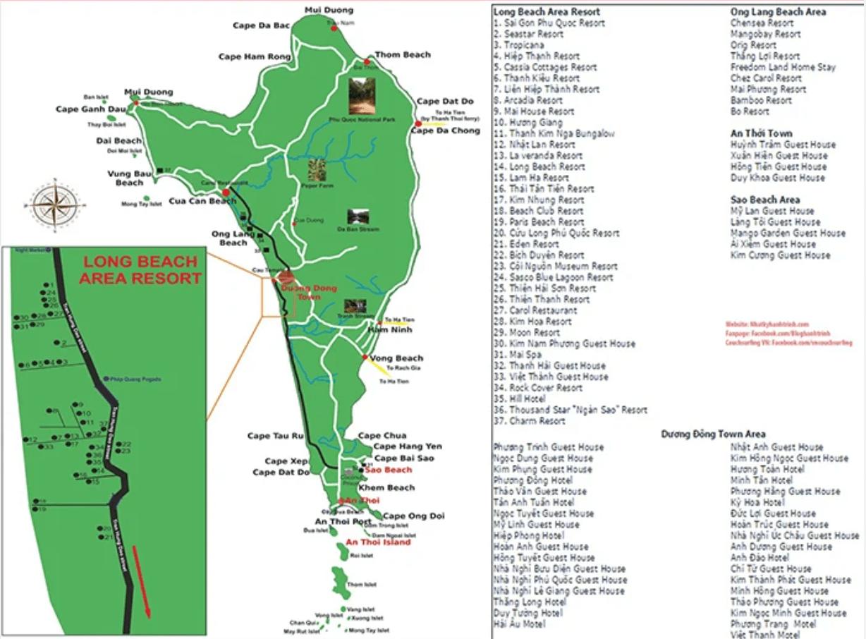 Bản đồ khách sạn Phú Quốc