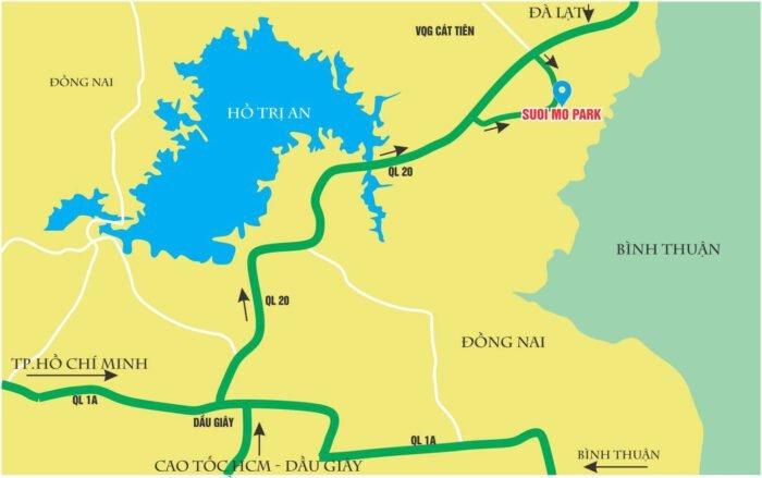 Hướng dẫn di chuyển đến khu du lịch công viên Suối Mơ Đồng Nai