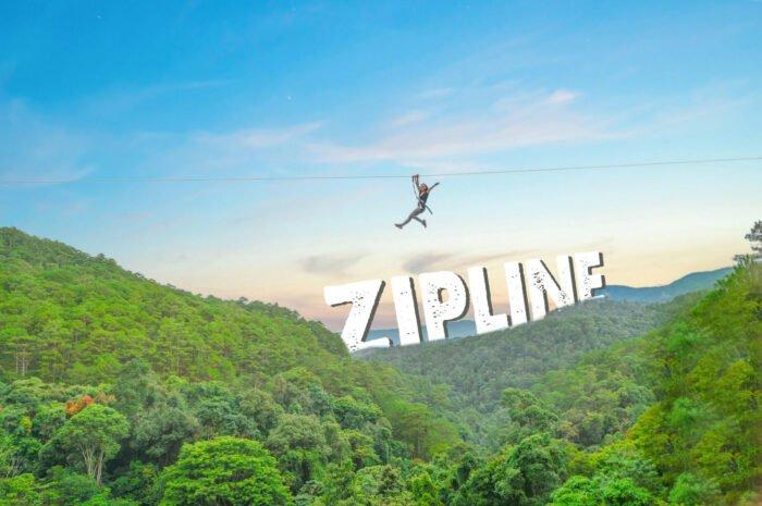 Zipline tại thác Datanla
