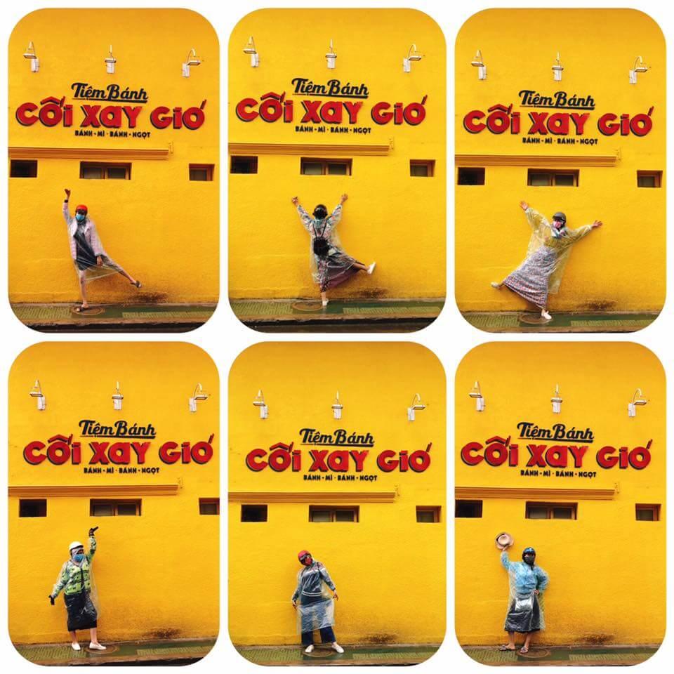 Bức tường vàng tiệm bánh Cối Xay Gió