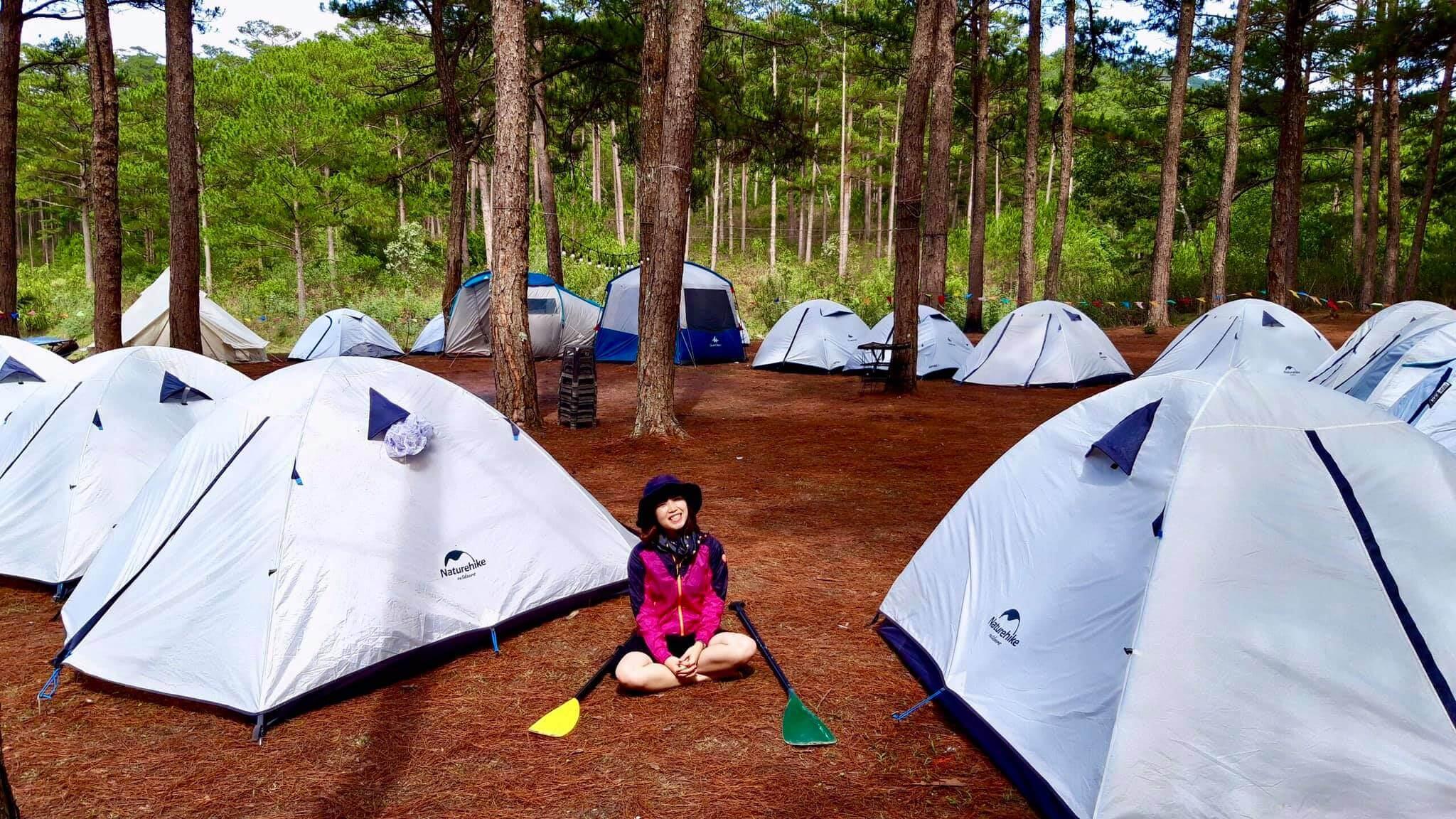 Cắm trại ở hồ Tuyền Lâm