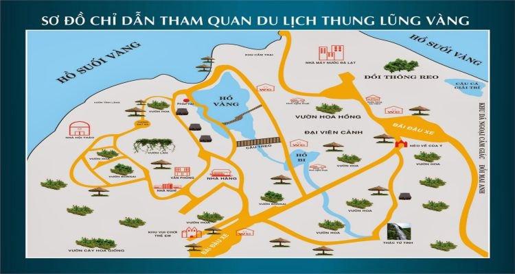 Bản đồ tham quan Thung lũng Vàng